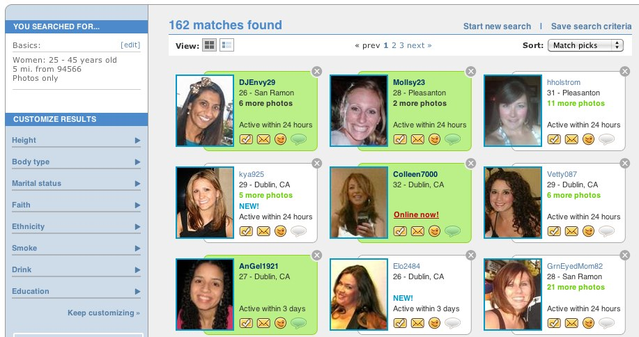 Dating site that matches faces