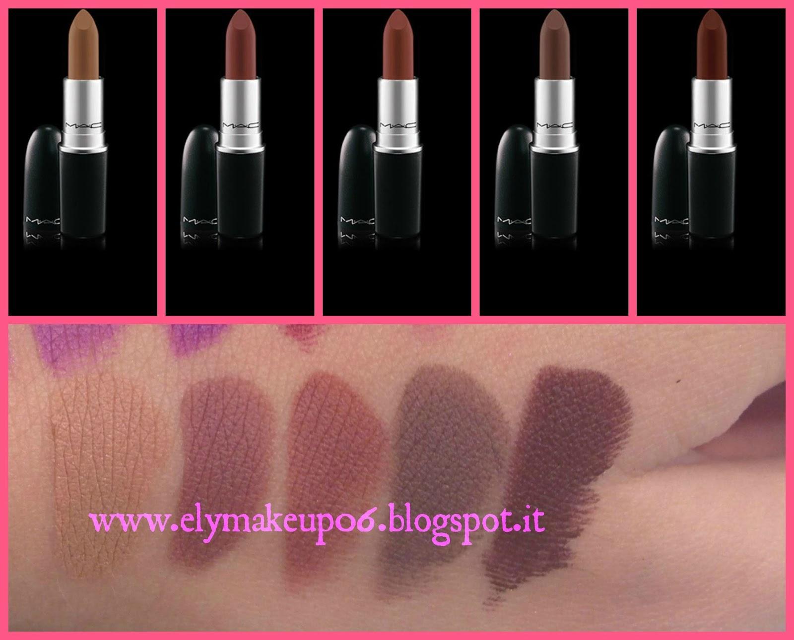 Amato ElyMakeup: Swatch e Haul Mac Lipstick The Matte Lip Collection 2015 CW66