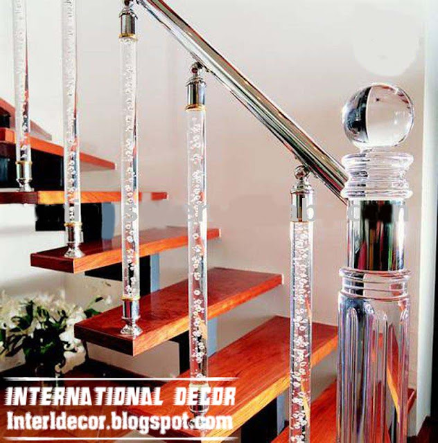 crystal stair railings