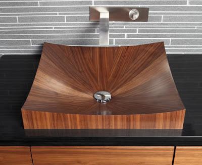 Wooden sink design