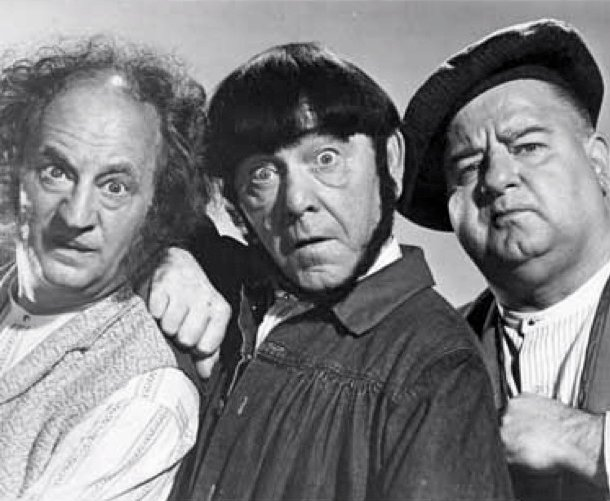 harry moe and joe were practising The three stooges are best known for the dozens of short subjects they  moe,  larry and curly joe appeared in the 1963 film it's a mad, mad, mad, mad world   moses harry horwitz became moe howard, jerome lester horwitz became  curly  training for a day of dentistry with larry as the guinea pig for their  practice.