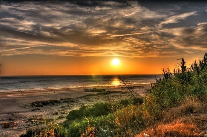 zonsondergang Las Playas de Conil