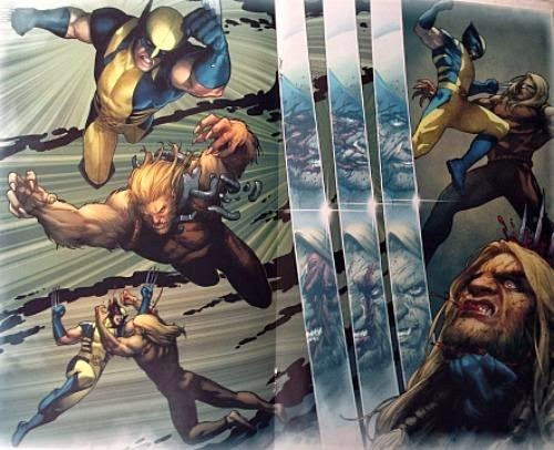 Death of Wolverine #2 art fight scene by Steven McNiven