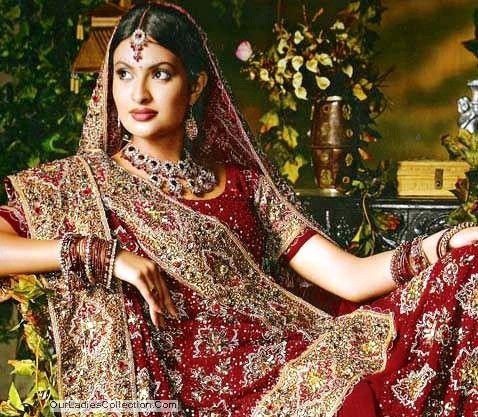 Sexy indian bridal dress