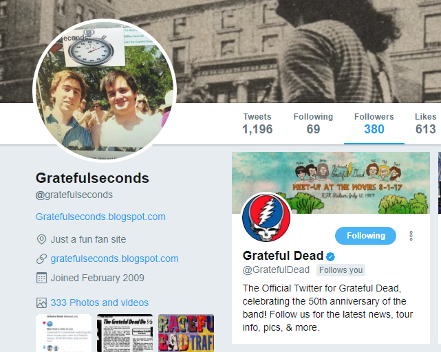 This Blog is Followed by the Grateful Dead