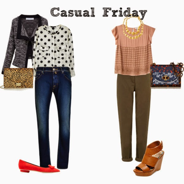 office outfits, work outfits, Casual Friday