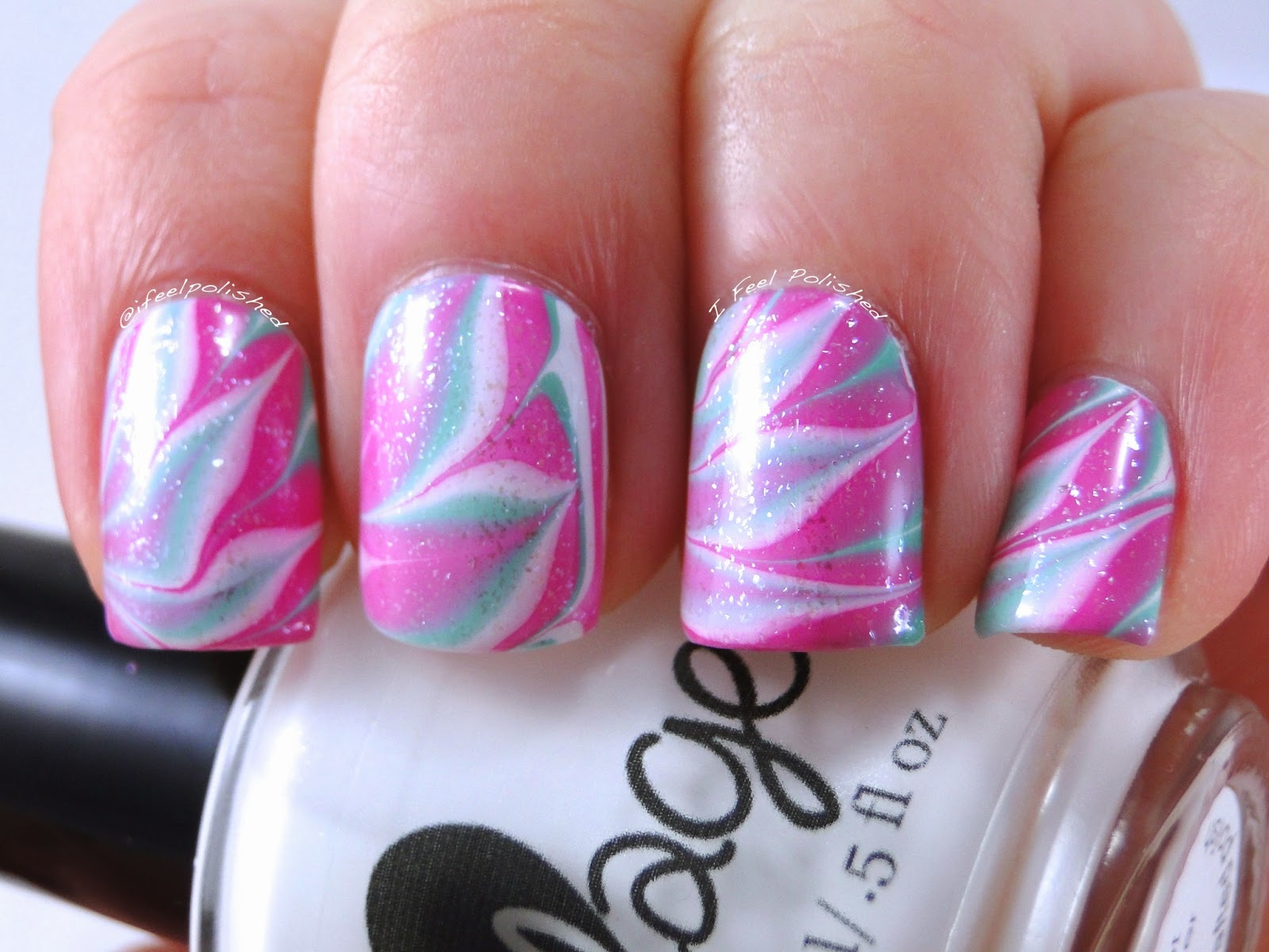 Water Marbled Nail Art