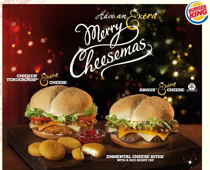 Around the World: Burger King UK - Merry Cheesemas! Menu   Brand ...