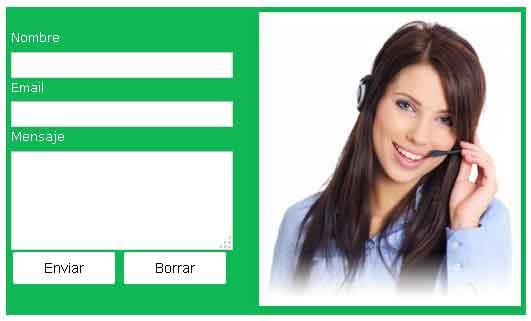 formulario de contacto blogger