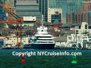 Luxury Yacht Luna Pays a Visit to the Brooklyn Cruise Terminal