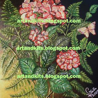 Esta foi a minha primeira pintura, oferecida à Cláudia, que tanto nos ajuda neste blog. / This was my first painting offered to Cláudia, who has helped us so much on this blog.