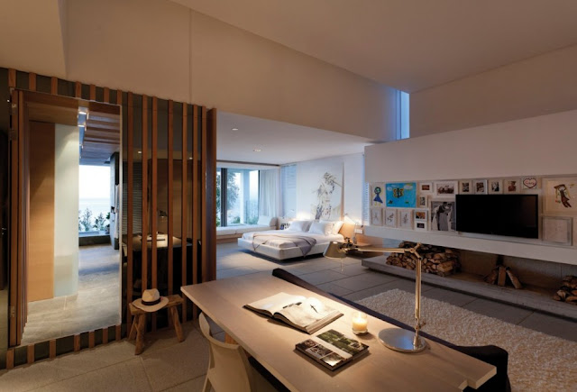 Bedroom of the modern home