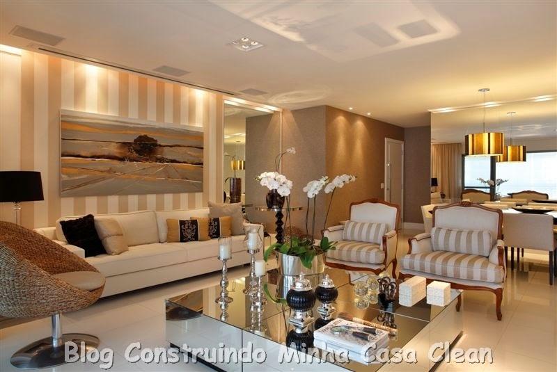 Construindo minha casa clean mesas de centro espelhadas for Sala de estar neutra