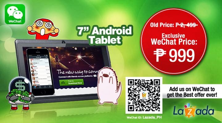 lazada wechat tablet promo