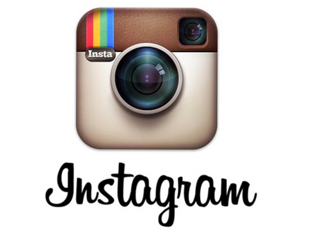 Hitta mitt instagram, klicka på loggan
