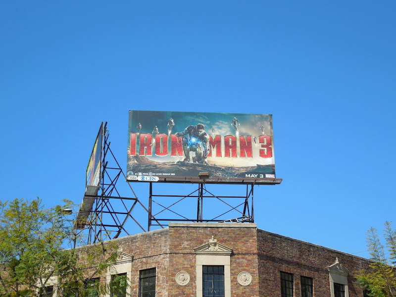 Iron Man 3 film billboard
