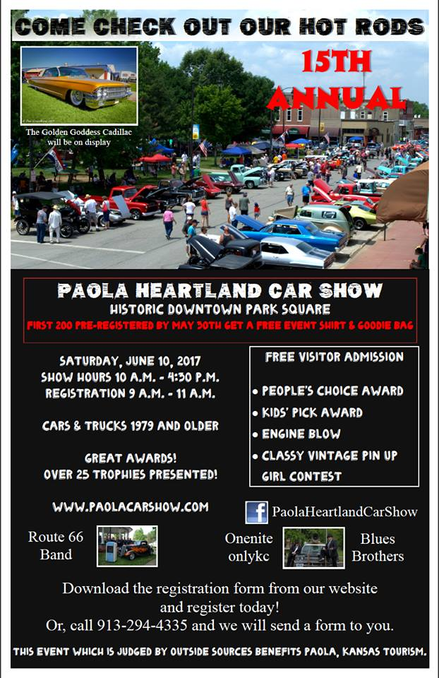 15th Annual Paola Heartland Car Show