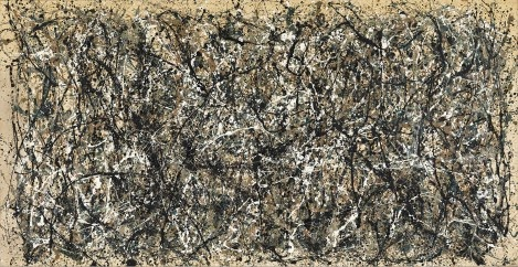 Jackson Pollock, One: Number 31 black and white patterns shapes