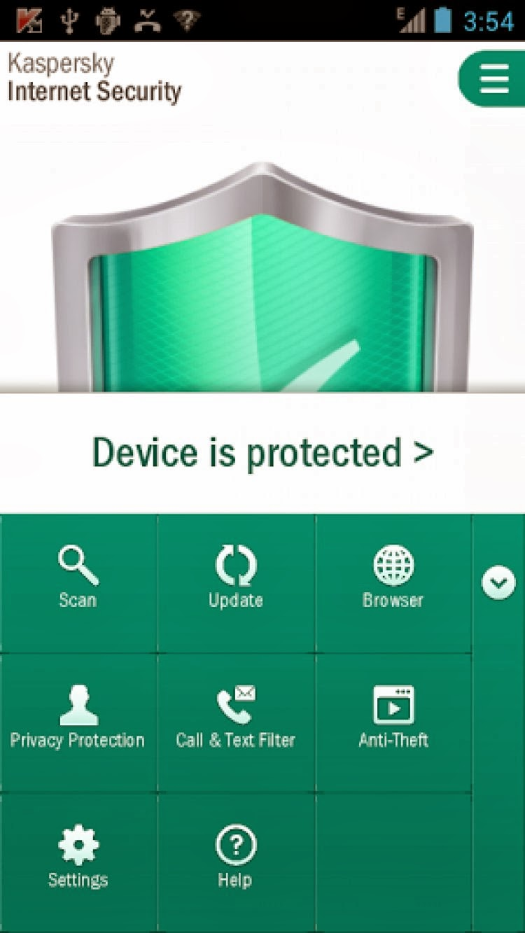 Kaspersky Internet Security من داخل البرنامج