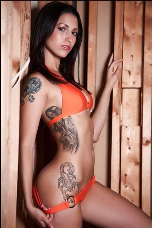 Scorpio Waist Tattoo