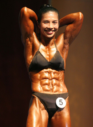 Chinese Female And Male Bodybuilders