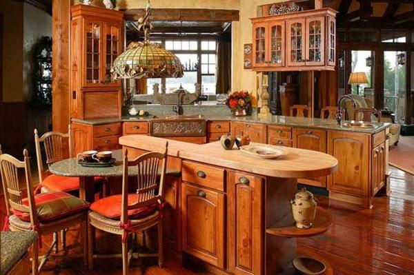 C mo decorar una cocina r stica colores en casa - Cocinas de madera rusticas ...