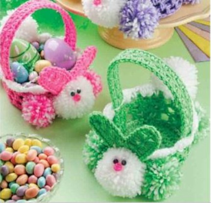 Free Pattern Crochet Easter Basket : Crocheted Easter Baskets Pattern Design Patterns Catalog