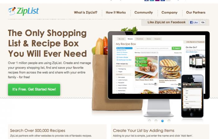 new feature ziplist recipe box shopping list dessert now