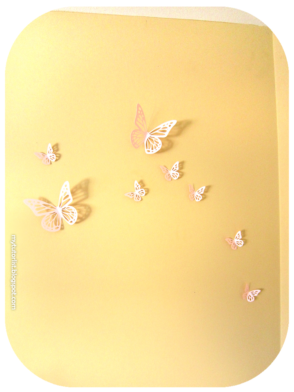 Butterfly Wall Art Decor Tutorial : Behind Mytutorlist.com