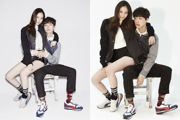 Krystal And Jaehyun Undeniable Chemistry In Bts Photos From Puma