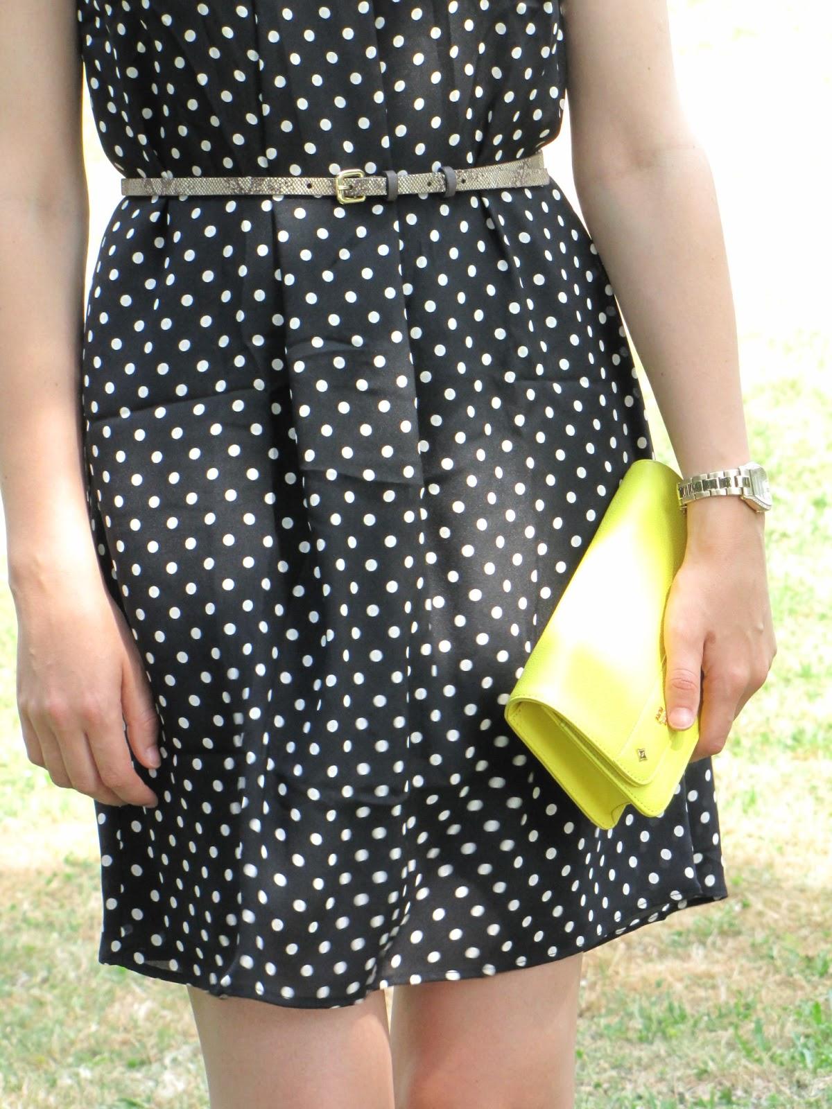 Mango dress, MCM bag