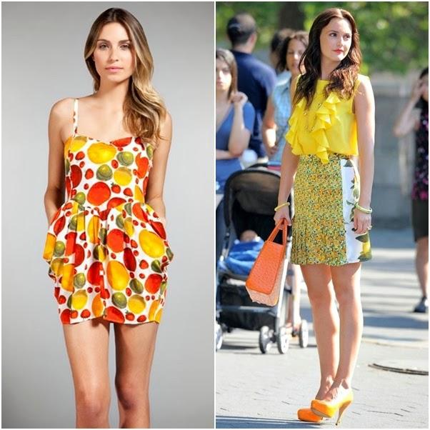 Tendência Verão 2014: Frutas Moda Roupa Look
