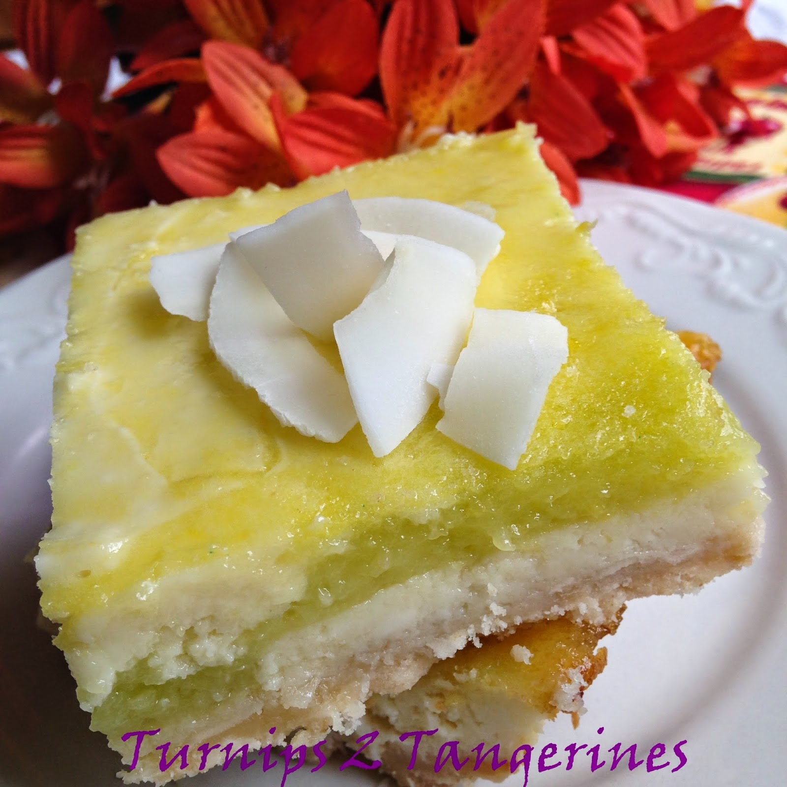 Turnips 2 Tangerines: Key Lime Cheesecake Bars with Toasted Coconut ...