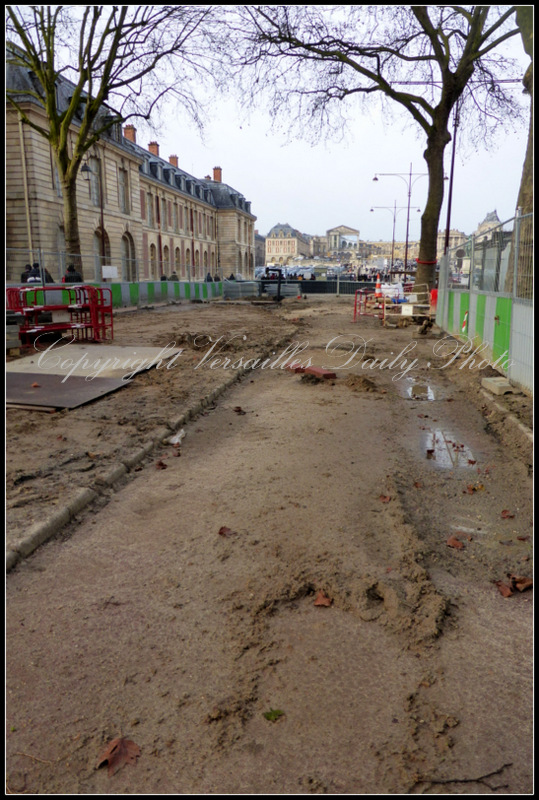 Roadworks Versailles avenue de Paris