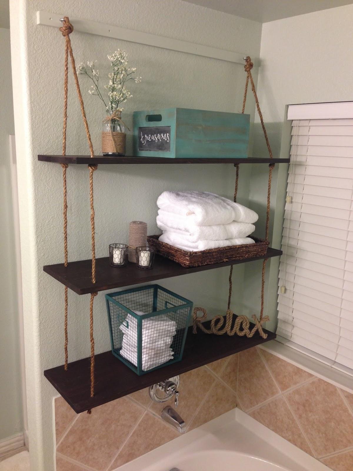 mon ami createry diy rope shelves. Black Bedroom Furniture Sets. Home Design Ideas