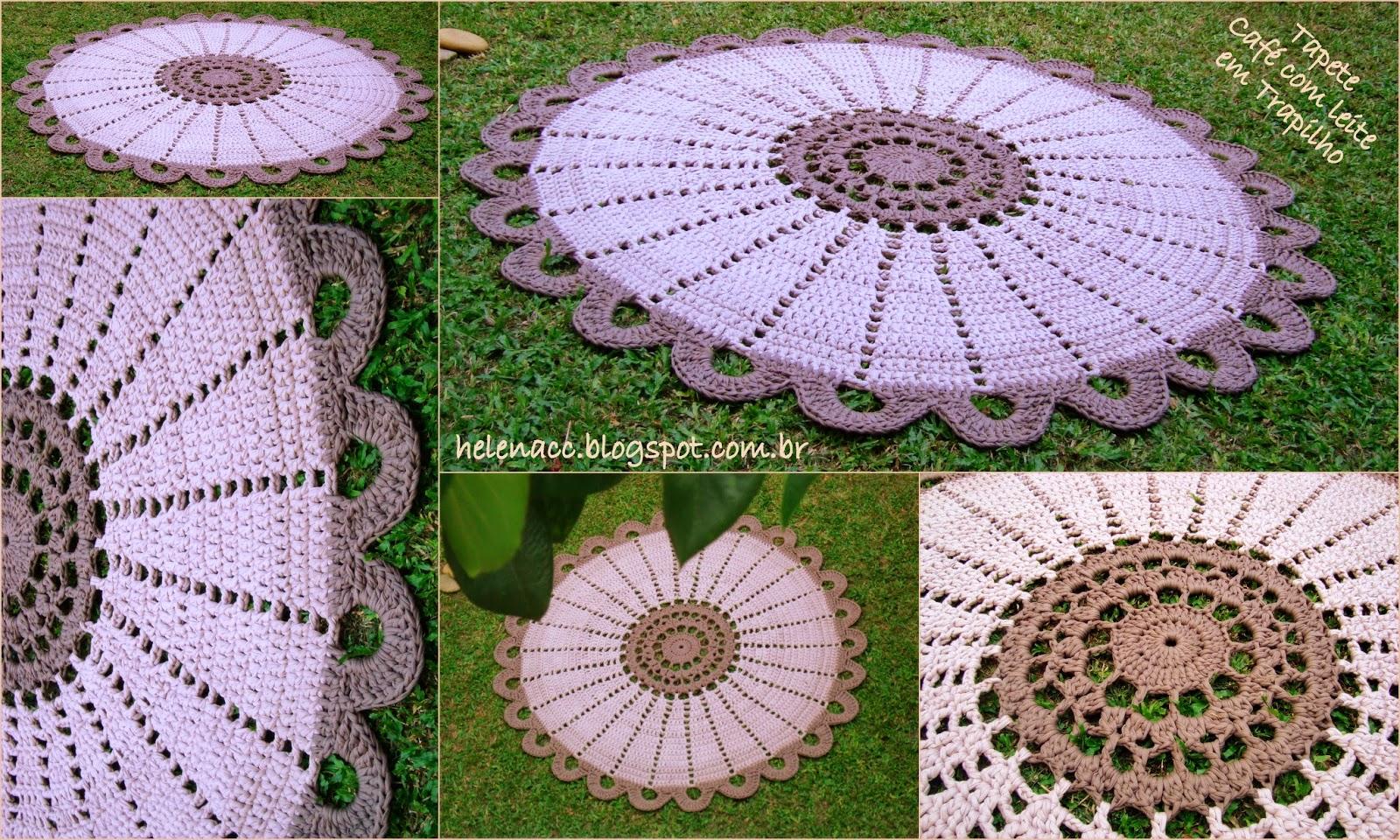 Eu Tambm Crocheto Tapete Caf Com Leite Em Trapilho Crochet Flower Motif Motivos Hexagonales Pinterest No Se Esquea De Aumentar As Fotos Apertar A Tecla Ctrl E Ao Mesmo Tempo Clicar Na Foto Ela Abre Outra Aba Um Aumento Bem Maior Do Que