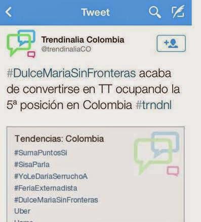 Dulce-Maria-lanza-colombia-album-fronteras-anuncia-irma-discos-Bogotá-2014