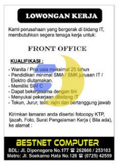 Lowongan Kerja Bestnet Computer Lampung