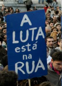 O Povo Luta Na Rua Mobilização Popular Protestos Indignados Lisboa Portugal Greve Geral Precários Inflexíveis