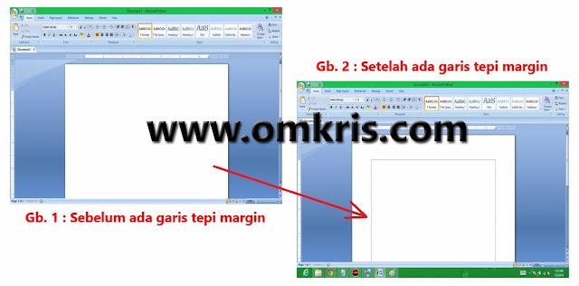 OM Kris Cara Memunculkan Garis Tepi Margin di Microsoft Word