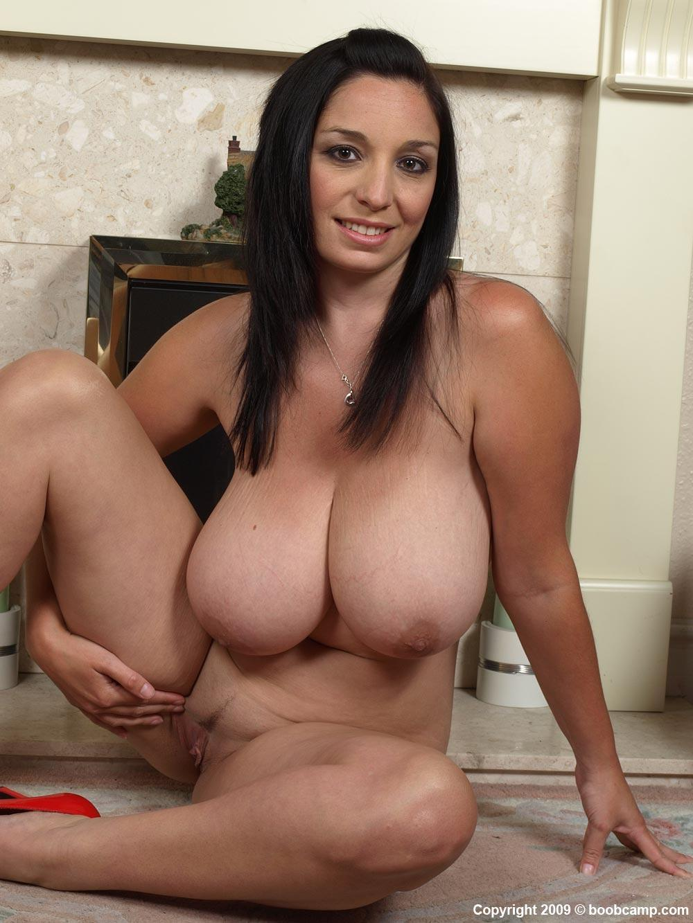image Brunette with big natural tits riding him in the bathroom