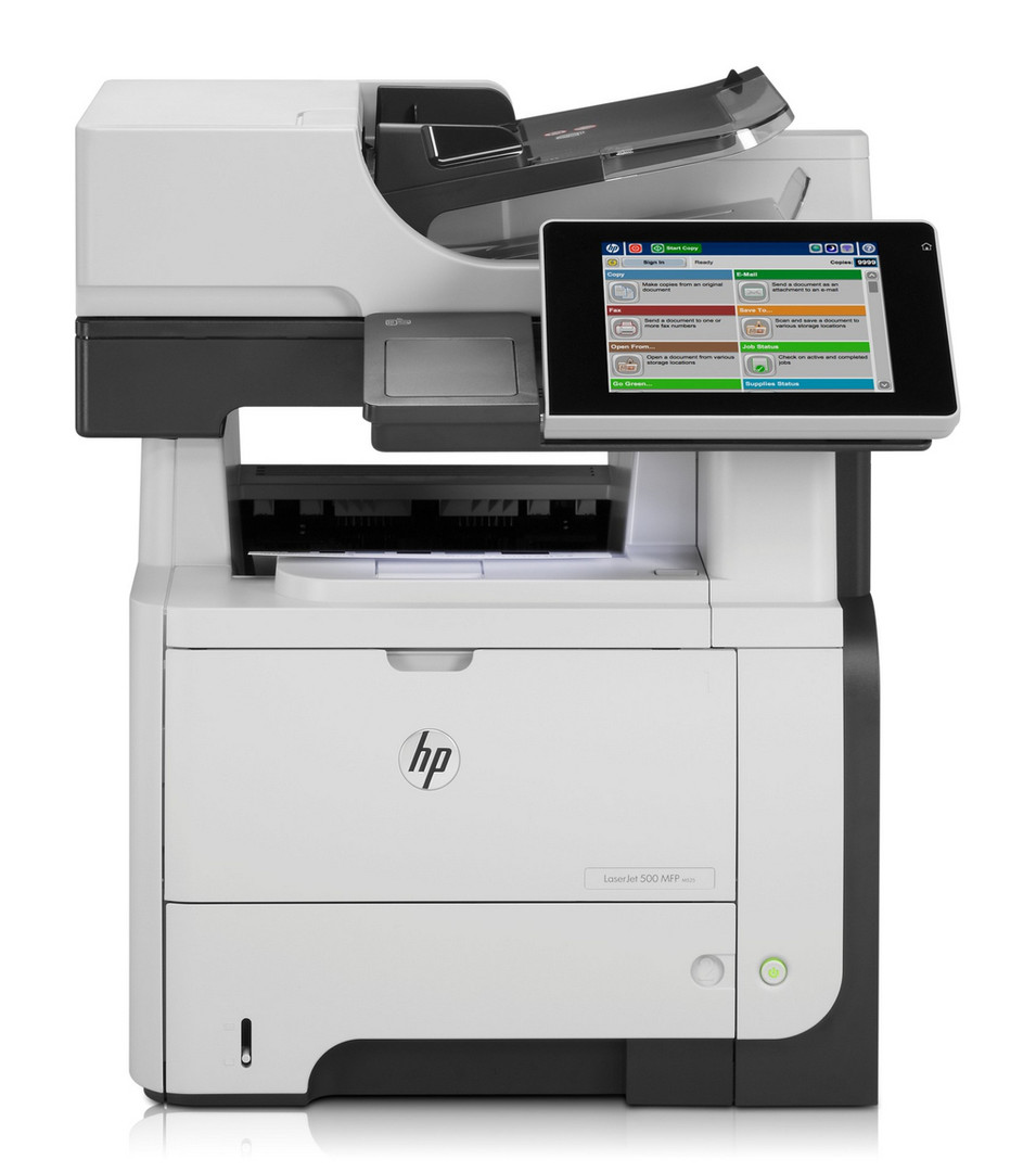 HP 525dn - scan and email documents