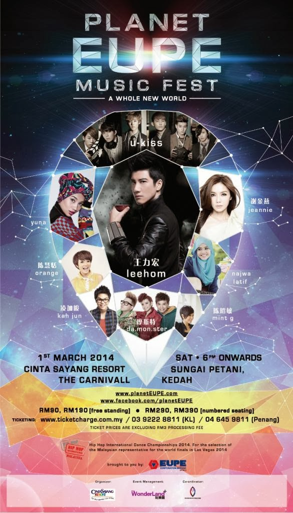 u-kiss, kedah, konsert, malaysia, lee hom, yuna, najwa latif