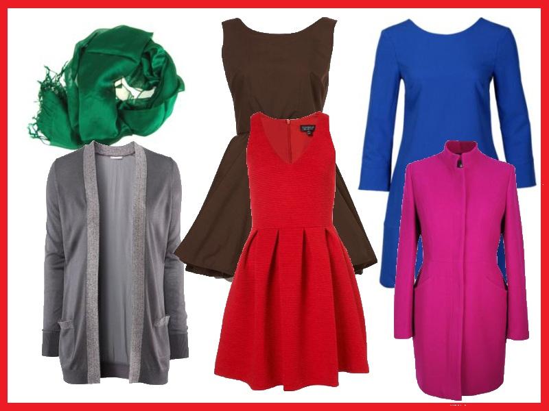 Przykładowa garderoba dla ciemnej zimy