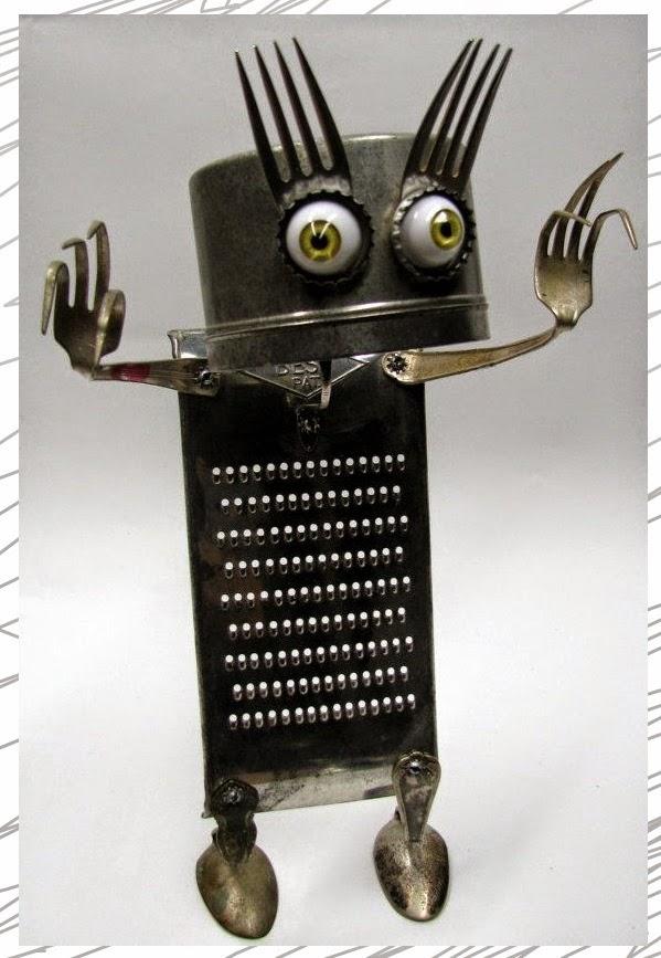 ไอเดียงานประดิษฐ์หุ่นจากของเก่าเหลือใช้