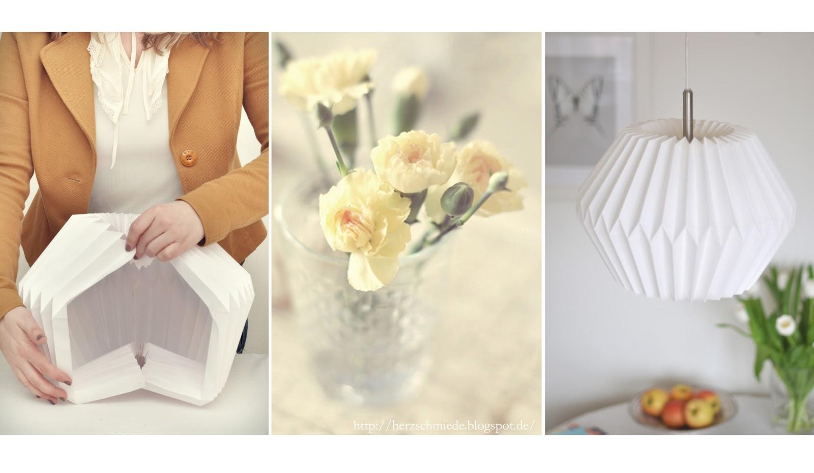 Herzschmiede diy origami lamp for Lampen papier