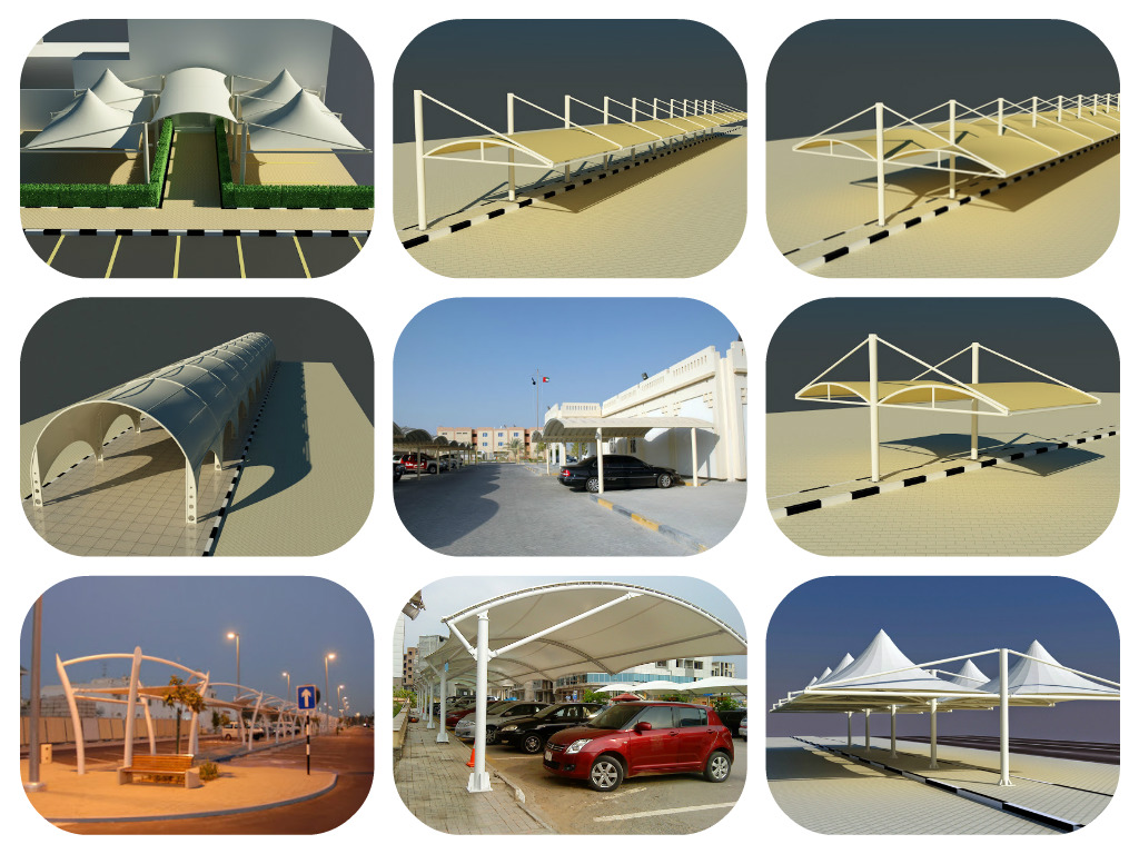 Car Parking Shade In Abu Dhabi Single Pole Car Parking Deign