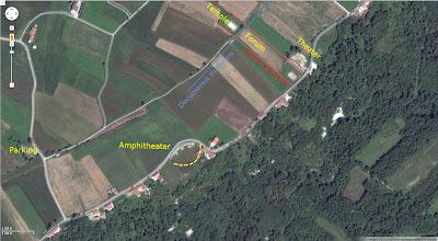 Aerial View of Augusta Bagiennorum with Cardo and Decumanus