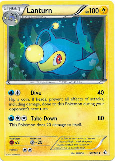 Lanturn Primal Clash Pokemon Card