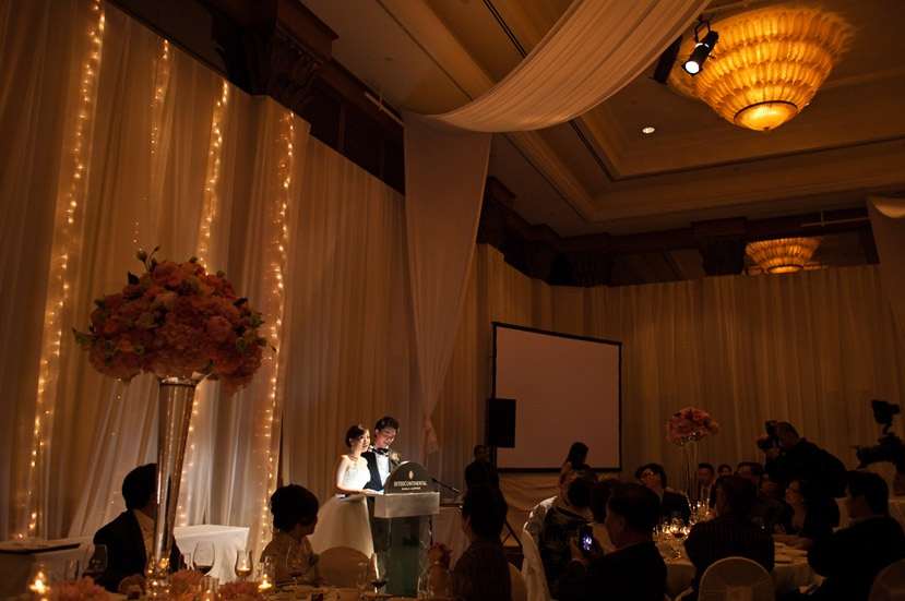 Themed Design Backdrop With Names Of The Wedding And Fairy Lights At Background Http Stories My Romance Intercontinental Hotel Jeremy Theng May